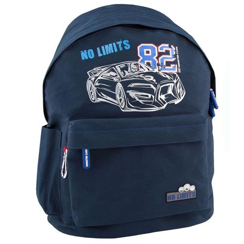 Batůžek Monster Cars No Limits 82, modrý s karabinou