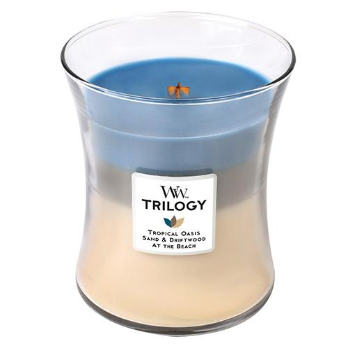 Svíčka Trilogy WoodWick Ráj na pobřeží, 275 g