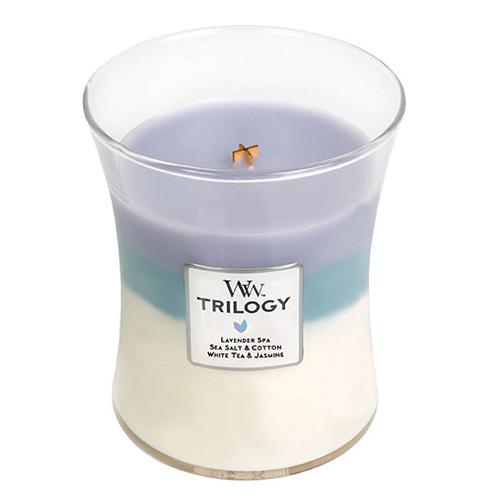 Svíčka Trilogy WoodWick Uklidňující ústup, 275 g