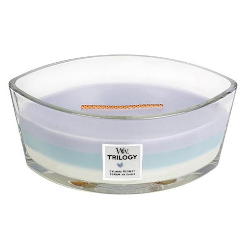 Svíčka Trilogy WoodWick Uklidňující ústup, 453.6 g