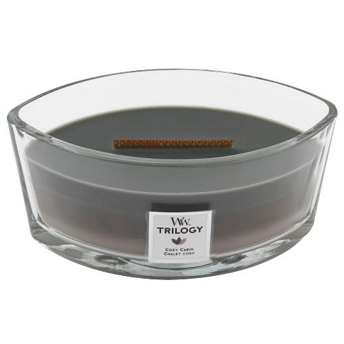Svíčka Trilogy WoodWick Útulný srub, 453.6 g