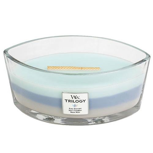 Svíčka Trilogy WoodWick Hřejivé pohodlí, 453.6 g