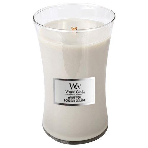 Svíčka oválná váza WoodWick Hřejivá vlna, 609.5 g