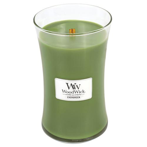 Svíčka oválná váza WoodWick Vůně jehličí, 609.5 g