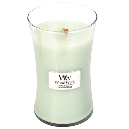 Svíčka oválná váza WoodWick Sladká zmrzlina, 609.5 g