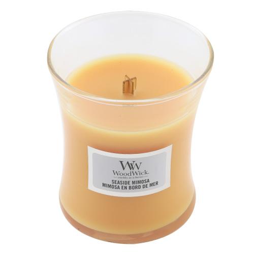 Svíčka oválná váza WoodWick Přímořský koktejl, 85 g