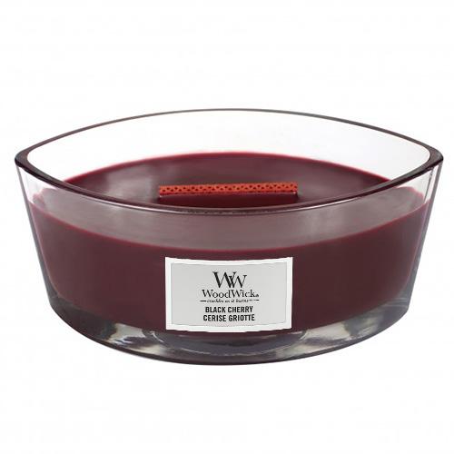 Svíčka dekorativní váza WoodWick Černá třešeň, 453.6 g