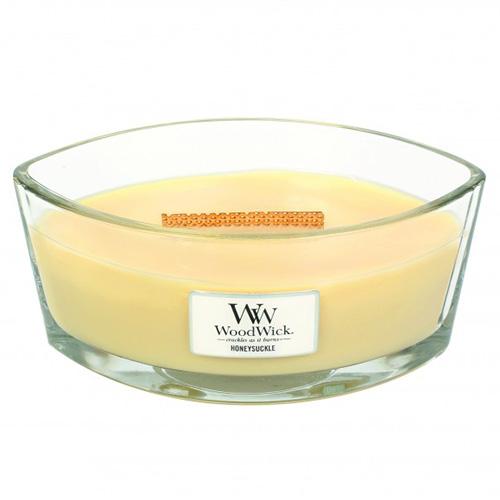 Svíčka dekorativní váza WoodWick Zimolez a jasmín, 453.6 g