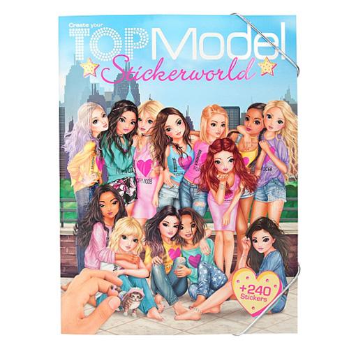 Kreativní sešit Top Model Modelky, 240 samolepek