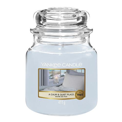 Svíčka ve skleněné dóze Yankee Candle Klidné a tiché místo, 410 g