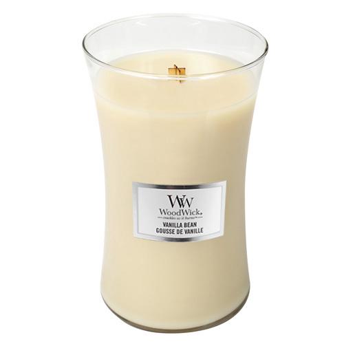 Svíčka oválná váza WoodWick Vanilka, 609.5 g