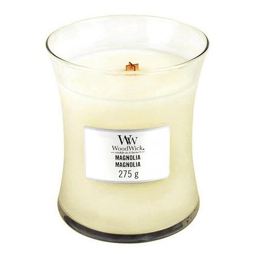 Svíčka oválná váza WoodWick Magnólie, 275 g