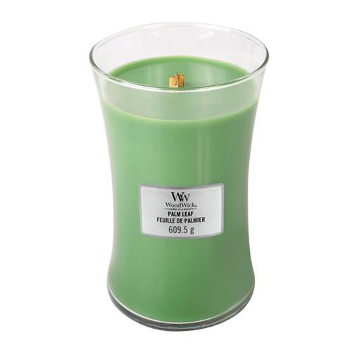 Svíčka oválná váza WoodWick Palmový list, 609.5 g