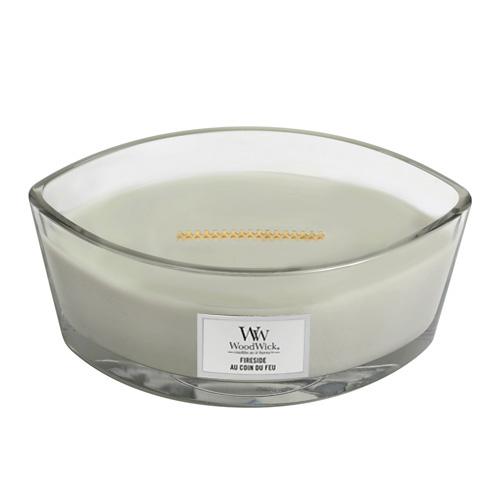 Svíčka dekorativní váza WoodWick Oheň v krbu, 453.6 g
