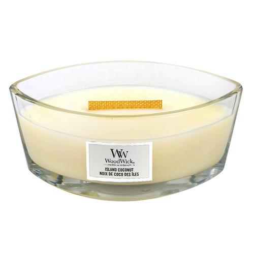 Svíčka dekorativní váza WoodWick Kokosový ostrov, 453.6 g