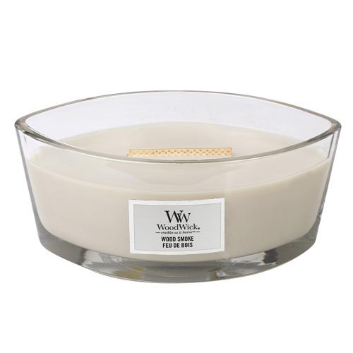 Svíčka dekorativní váza WoodWick Kouř z cedrového dřeva, 453.6 g