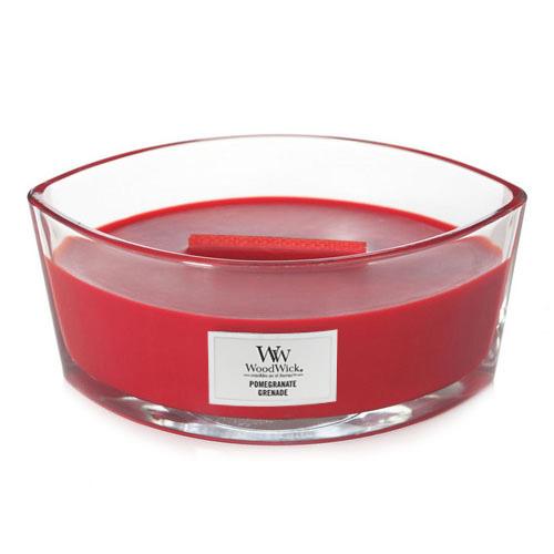 Svíčka dekorativní váza WoodWick Granátové jablko, 453.6 g