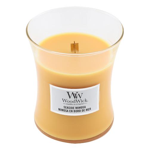 Svíčka oválná váza WoodWick Přímořský koktejl, 275 g