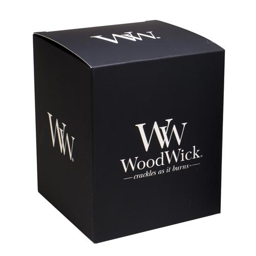 Dárková krabička WoodWick Na střední svíčku, černá