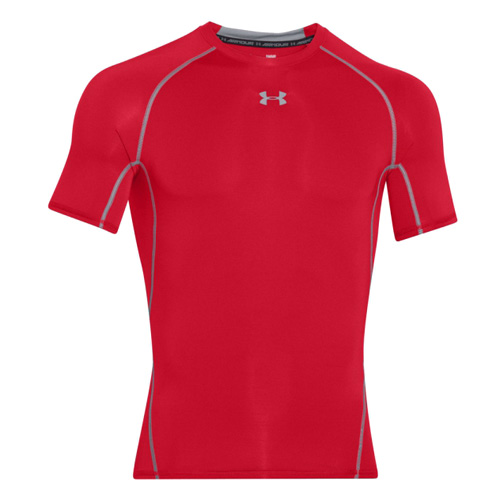 Kompresní tričko Under Armour HG SS 77558 | Muži | Červená | M