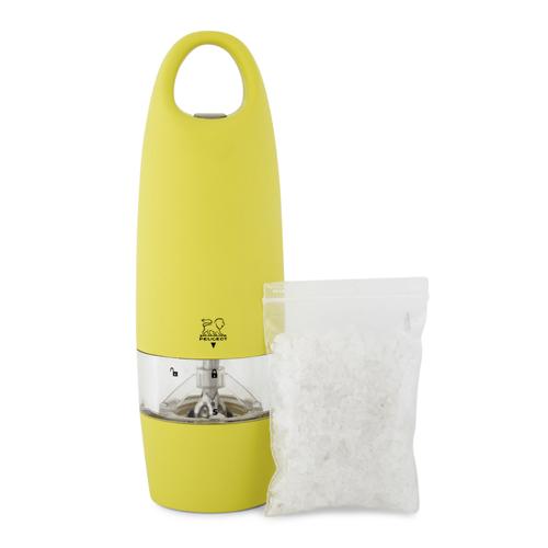 PEUGEOT ZEST el. mlýnek na sůl 18 cm, žlutý plast
