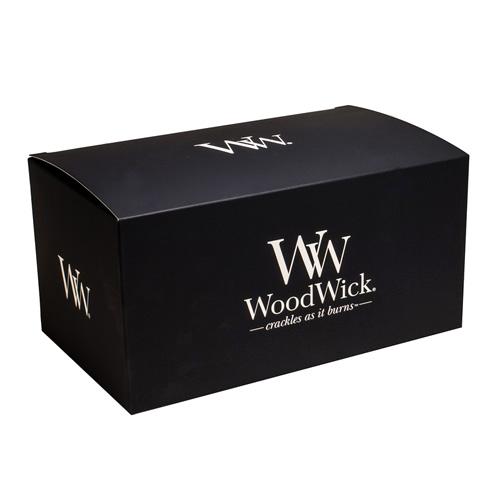 Dárková krabička WoodWick Na svíčku HearthWick, černá