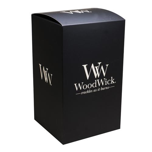 Dárková krabička WoodWick Na velkou svíčku, černá