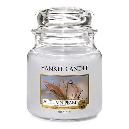 Svíčka ve skleněné dóze Yankee Candle Podzimní perla, 410 g