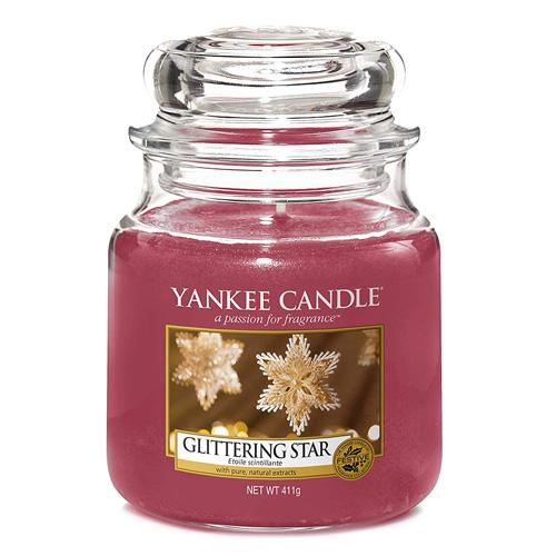 Svíčka ve skleněné dóze Yankee Candle Zářivá hvězda, 410 g