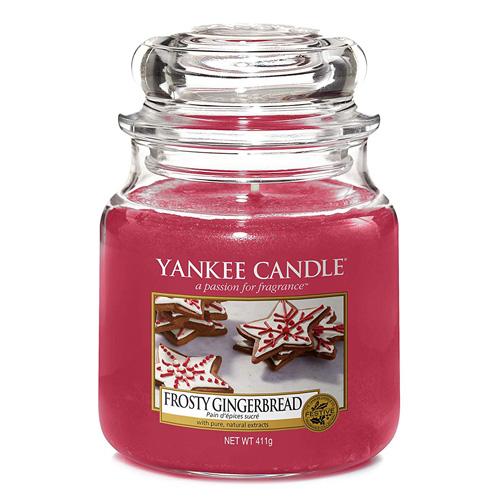 Svíčka ve skleněné dóze Yankee Candle Perník s polevou, 410 g