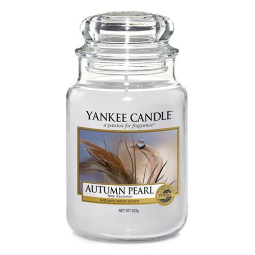 Svíčka ve skleněné dóze Yankee Candle Podzimní perla, 623 g
