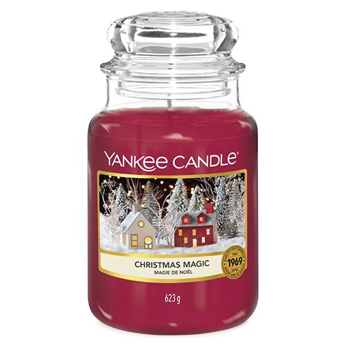 Svíčka ve skleněné dóze Yankee Candle Vánoční kouzlo, 623 g