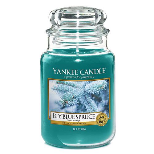 Svíčka ve skleněné dóze Yankee Candle Zledovatělý modrý smrk, 623 g