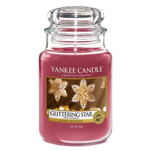 Svíčka ve skleněné dóze Yankee Candle Zářivá hvězda, 623 g