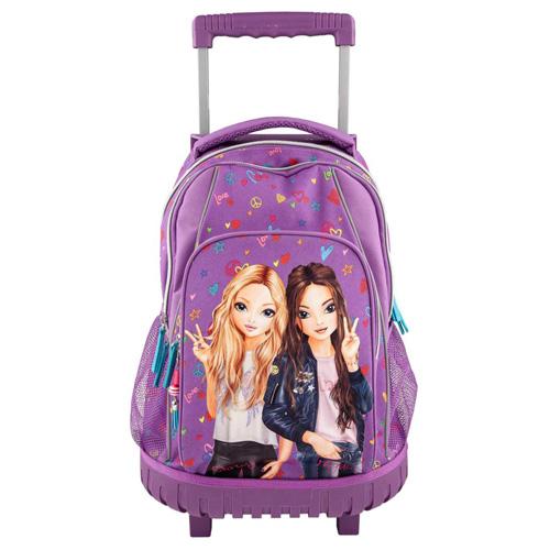 Školní batoh trolley Top Model Christy a Hayden, fialový