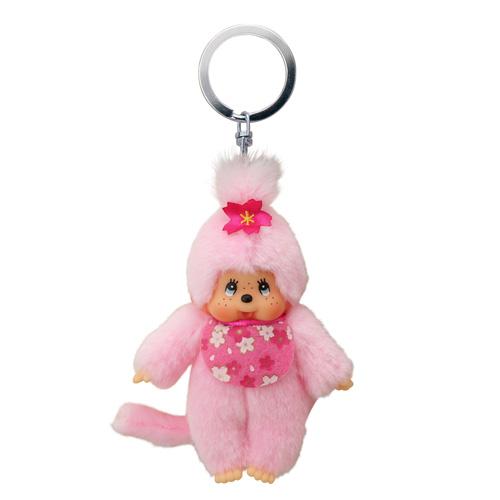 Klíčenka Monchhichi Růžová opička, 10 cm