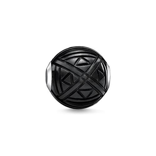 """Korálek """"Etno černý"""" Thomas Sabo K0300-024-11, Karma Beads, 925 Sterling silver, onyx"""