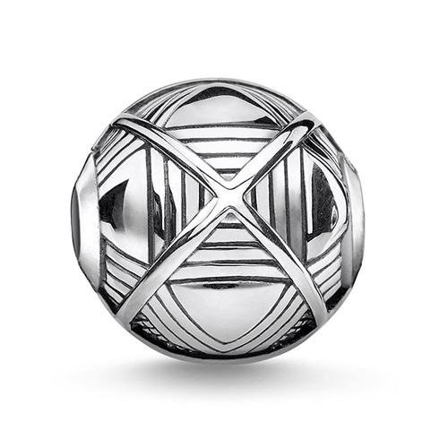 """Korálek """"Etno stříbrný"""" Thomas Sabo K0301-637-21, Karma Beads, 925 Sterling silver, blackened"""