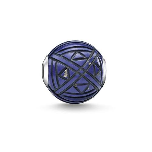 "Korálek ""Etno modrý"" Thomas Sabo K0302-771-1, Karma Beads, 925 Sterling silver, simulated lap"
