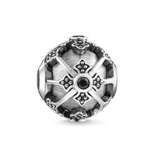"""Korálek """"Královský kříž"""" Thomas Sabo K0303-643-11, Karma Beads, 925 Sterling silver, blackened, z"""
