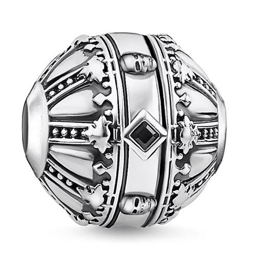 "Korálek ""Královské jablko"" Thomas Sabo K0304-643-11, Karma Beads, 925 Sterling silver, blackened, z"