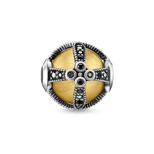 """Korálek """"Královské zlato"""" Thomas Sabo K0306-849-11, Karma Beads, 925 Sterling silver, 18k yellow g"""