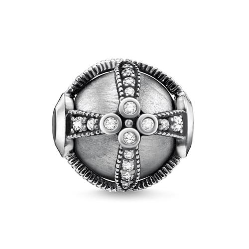 """Korálek """"Královské stříbro"""" Thomas Sabo K0307-643-14, Karma Beads, 925 Sterling silver, blackened, z"""