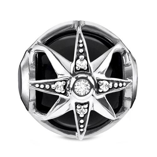 "Korálek ""Královská hvězda černá"" Thomas Sabo K0308-641-11, Karma Beads, 925 Sterling silver, blackened, o"