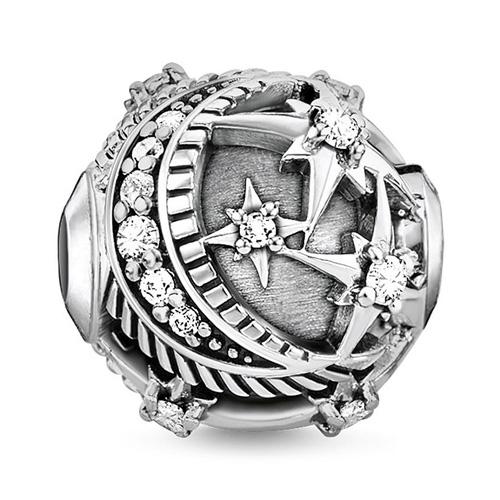 """Korálek """"Královská hvězda stříbrná"""" Thomas Sabo K0310-643-14, Karma Beads, 925 Sterling silver, blackened, z"""