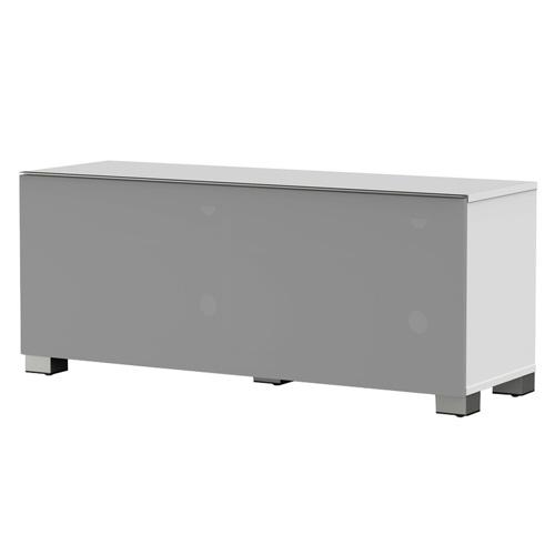 Meliconi 500404 TV stojan, sklo, bílá