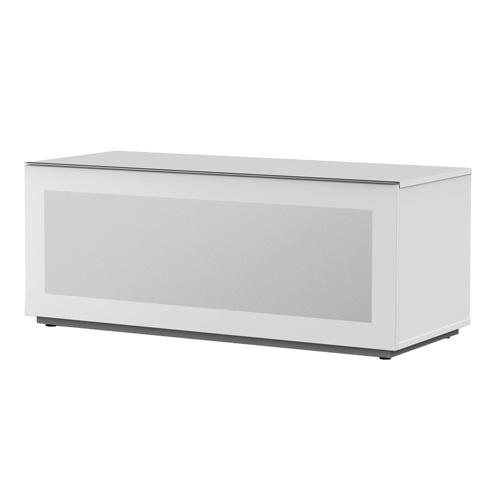 Meliconi 500406 TV stojan, sklo, bílá