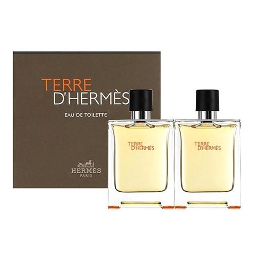 Dárková sada Hermés Terre d'Hermés, 2 x EDT 50 ml
