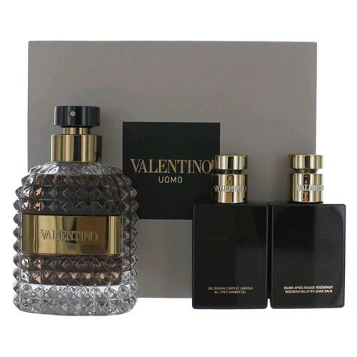 Dárková sada Valentino Uomo, EDT 100 ml, sprchový gel 50 ml, balzám po holení 50 ml