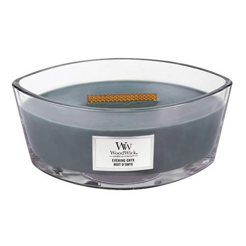 Svíčka dekorativní váza WoodWick Večerní onyx, 453.6 g
